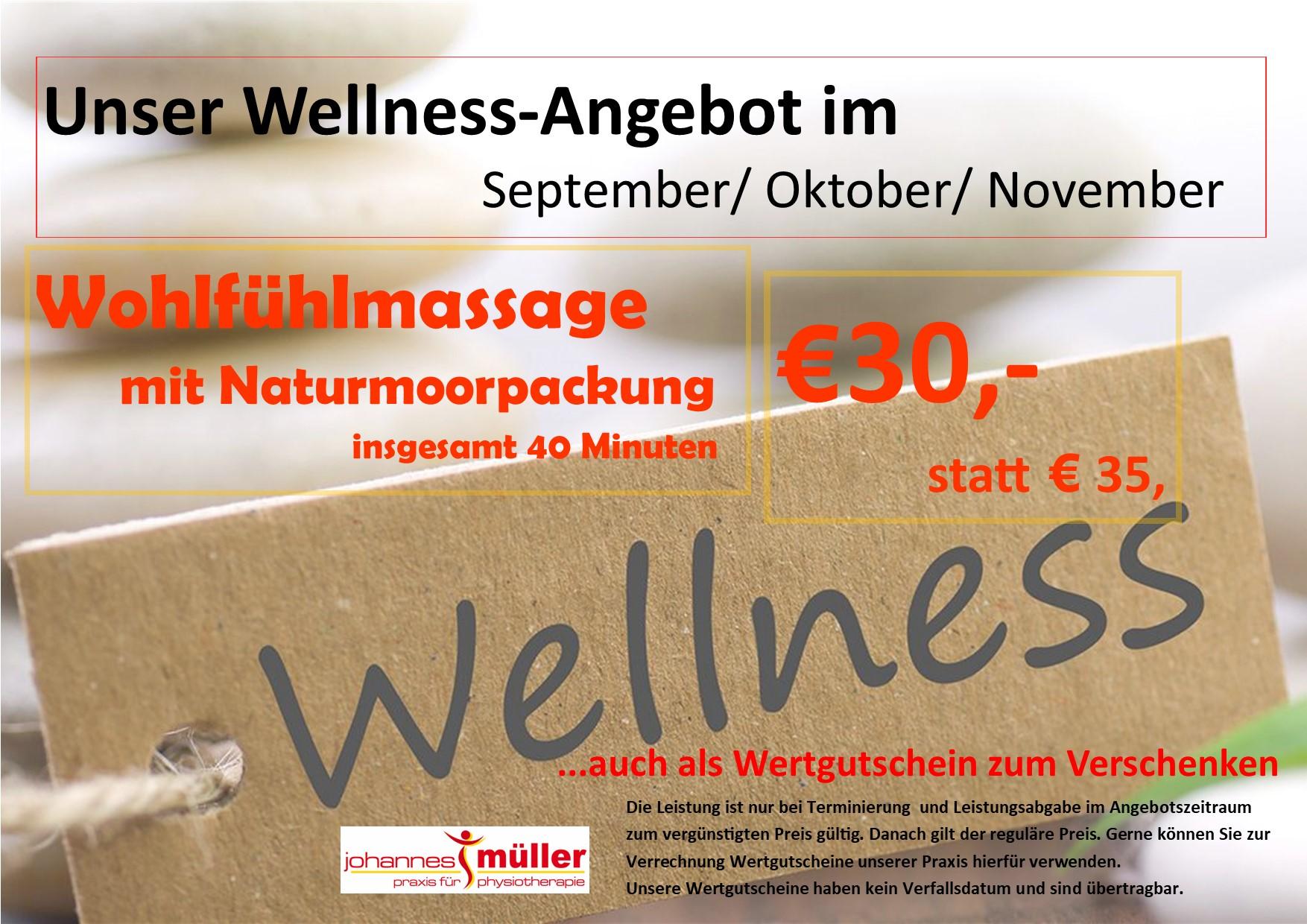 Wellness Angebot Juni, Juli, August